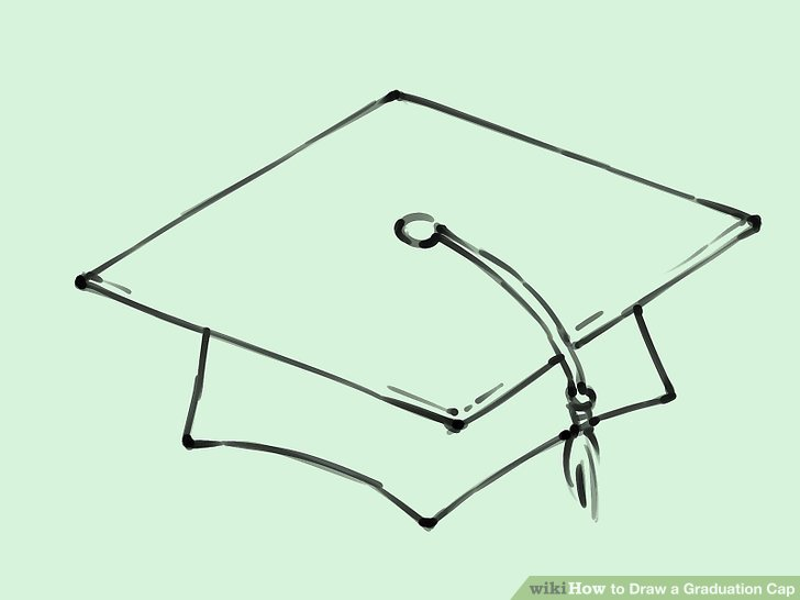 graduation drawings How to draw a graduation cap 5 st with pictures wikihow jpg