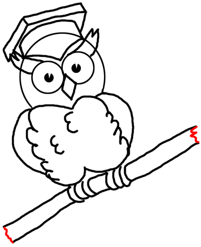 graduation drawings Step drawingic cartoon owls with graduation cap on how to png