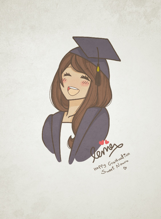 graduation drawings Happy graduation sweet noura by lamasa on deviantart png