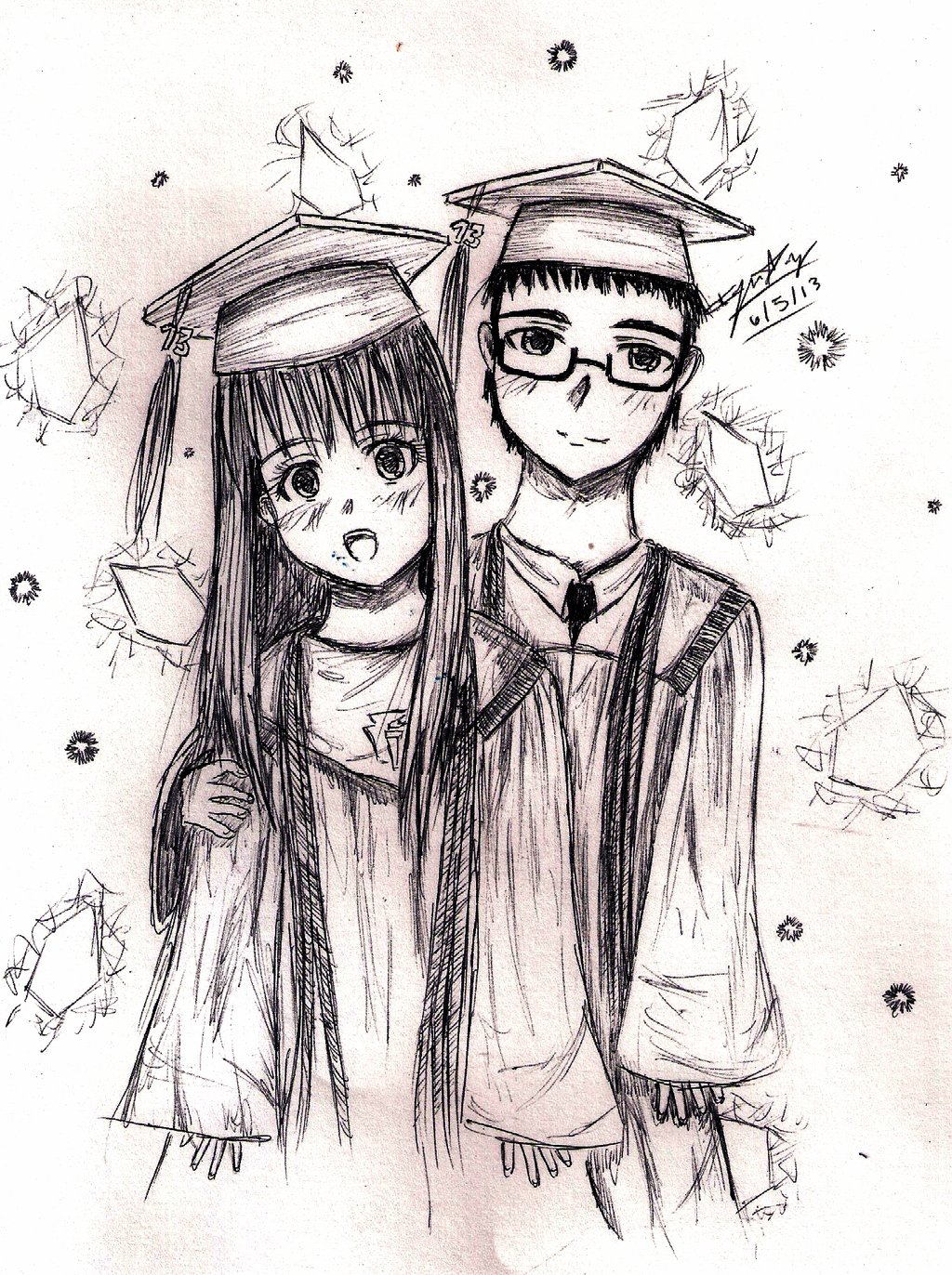 graduation drawings Graduation by rubielightning on deviantart jpg