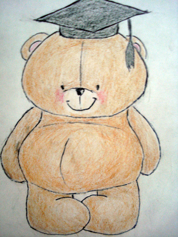 graduation drawings Foreverfriends graduation bear by beehoon on deviantart jpg