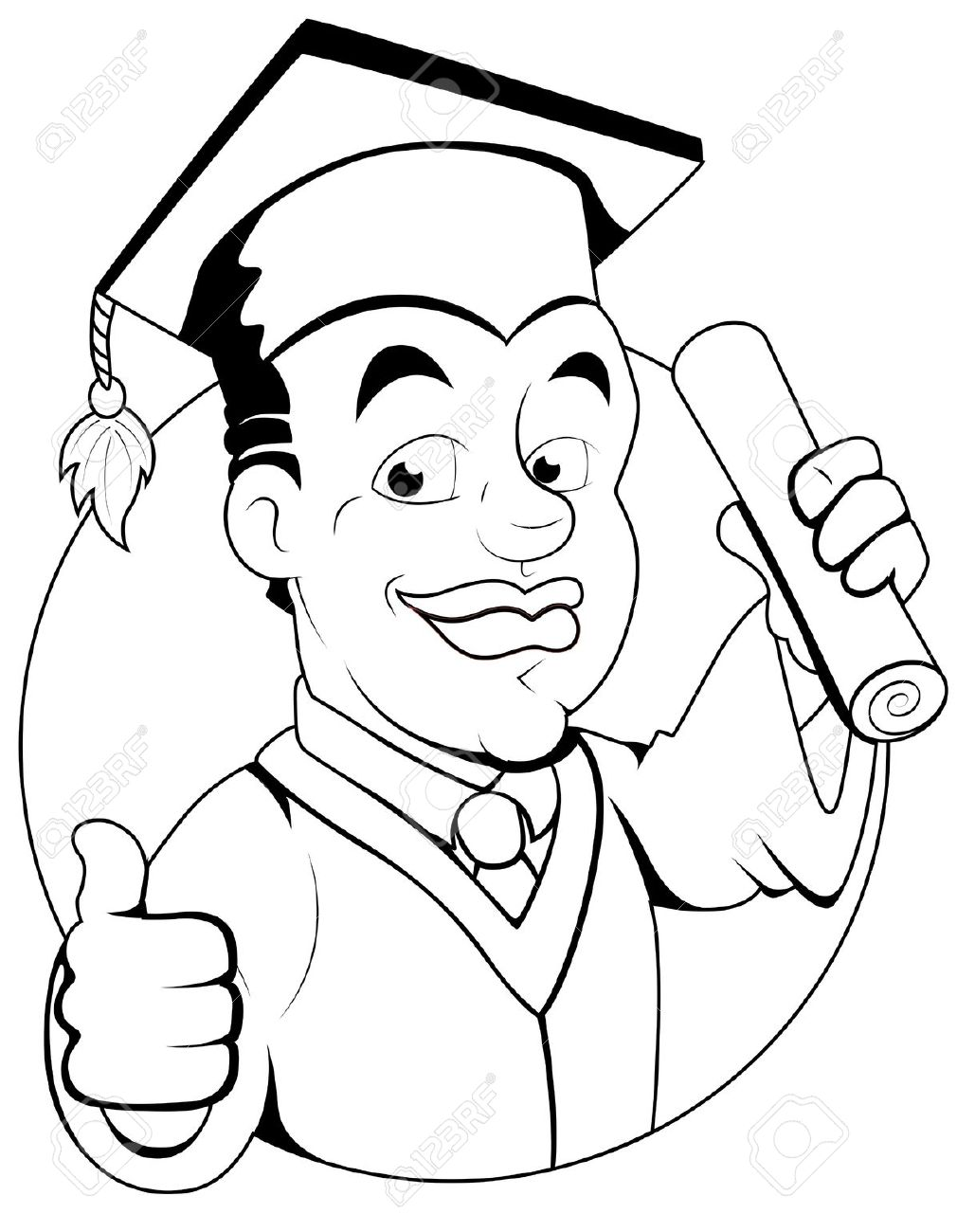graduation drawings Clip art graduation black and white jpeg