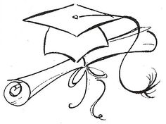 graduation drawings How to draw a graduation cap google search how and jpg