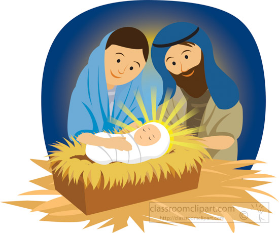 Christian clipart mary joseph and baby jesus in manger 1 jpg