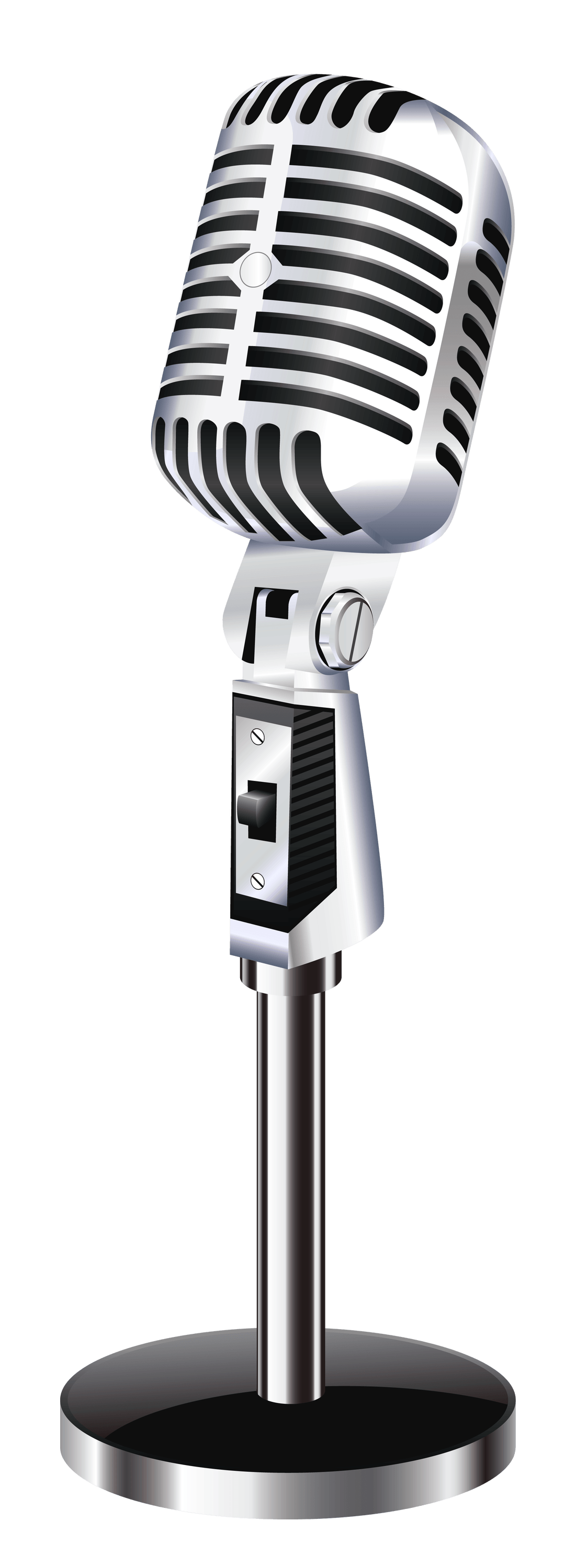 Vintage microphone transparent stick png 2