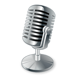 Vintage podcast microphone transparent stick png