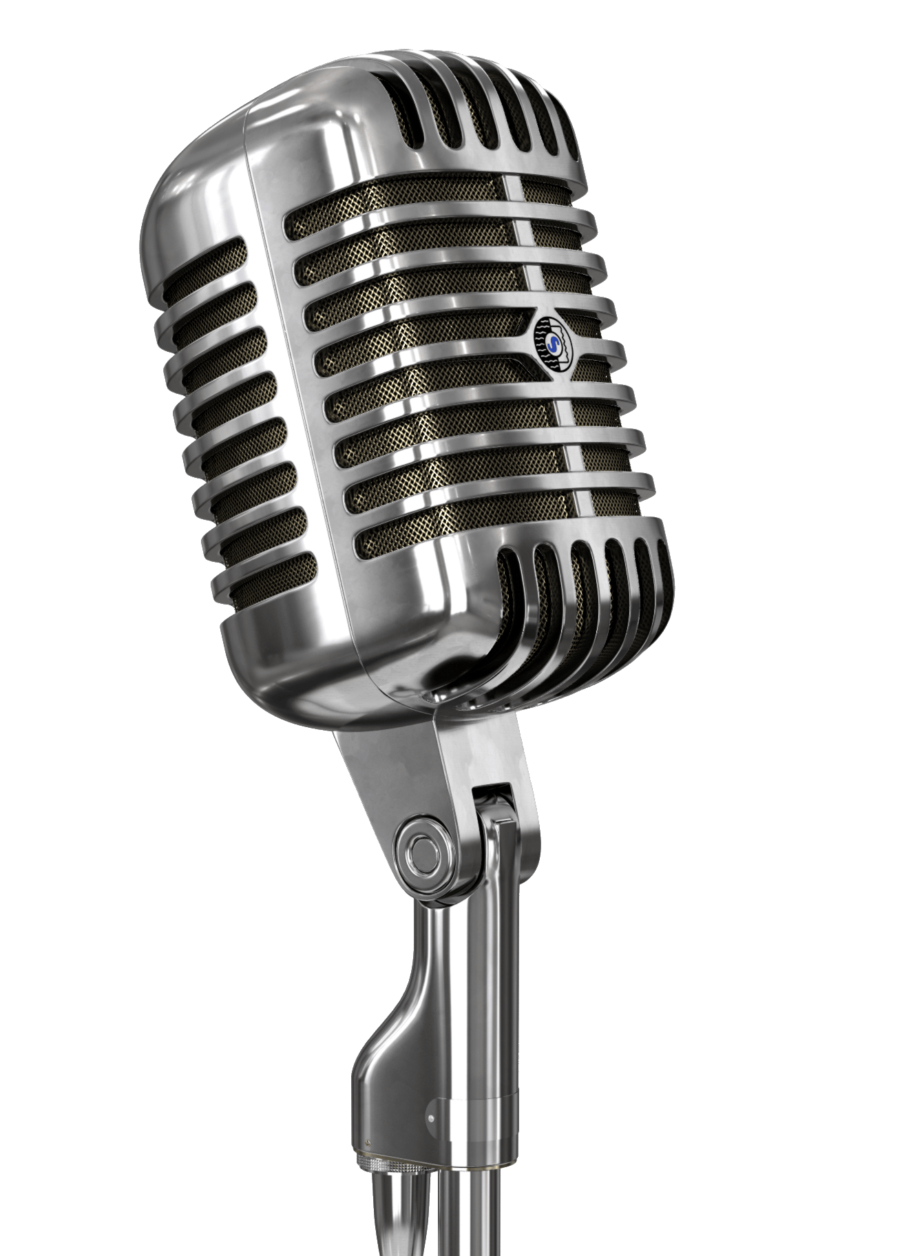 microphone transparent Vintage microphone and stand transparent stick png