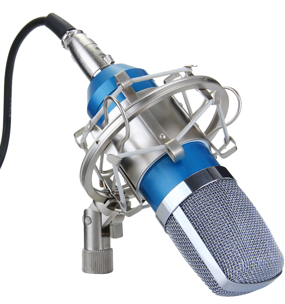 Recording studio microphone transparent image png