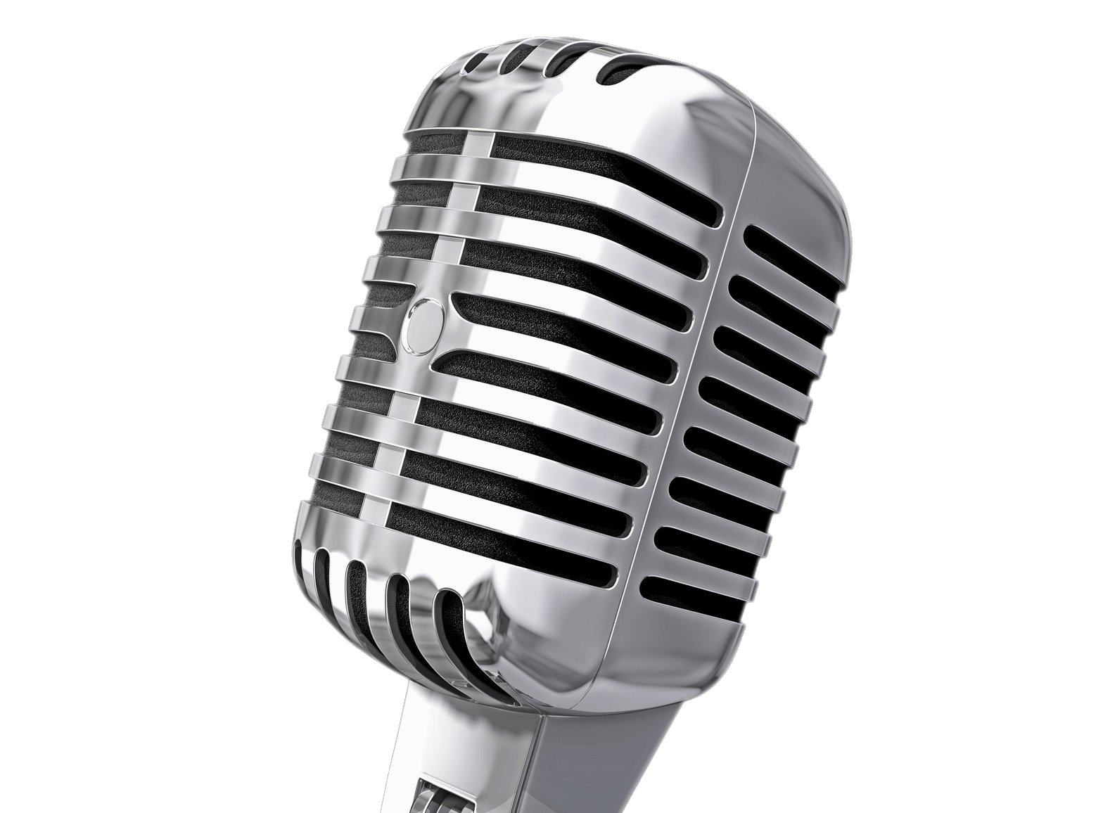 Vintage microphone transparent stick png