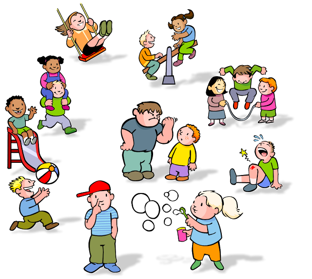 Kids at recess clipart png