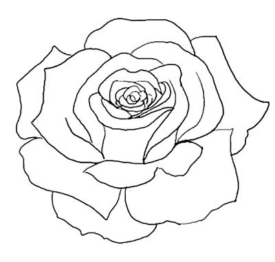 Flower outline tattoos rose outline tattoo stencil line art jpg