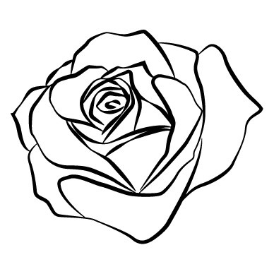 Rose outline free download clip art on clipart jpg