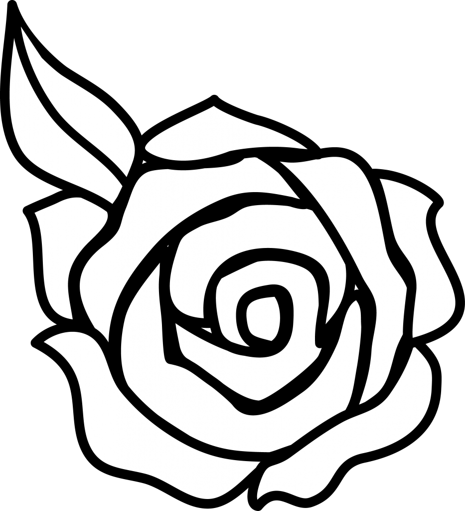 Rose outline png