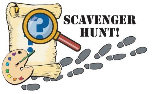 Treasure clipart scavenger hunt pencil and in color treasure jpg