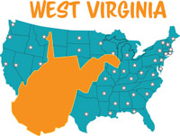 Fifty states west virginia clipart illustrations jpg