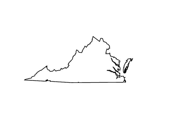 Virginia clipart silhouette pencil and in color png