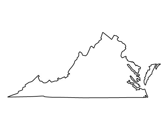 Virginia clipart outline cliparts suggest  jpg