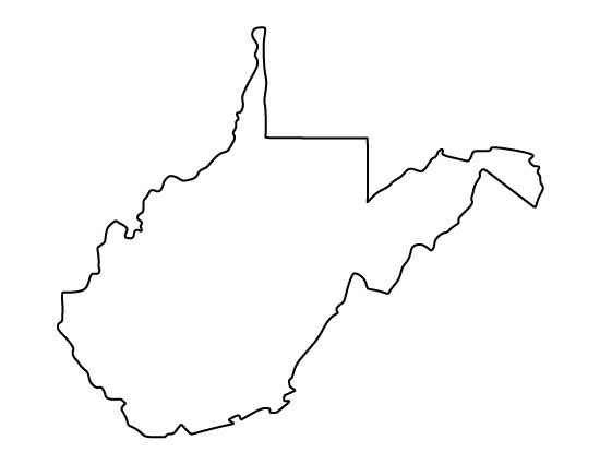 Virginia clipart outline jpg