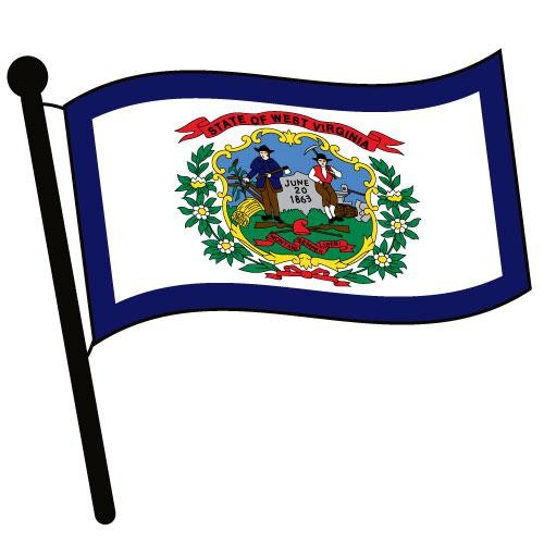 West virginia waving flag clip art jpg