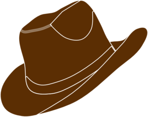 Brown hat clipart jpg