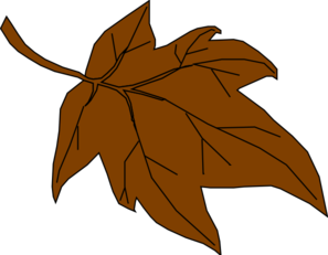 Brown fall leaves clipart jpg