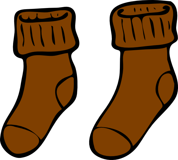 Brown sock clip art at vector clip art png