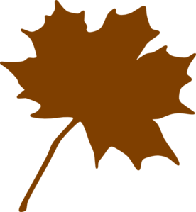 Brown leaf clipart jpg