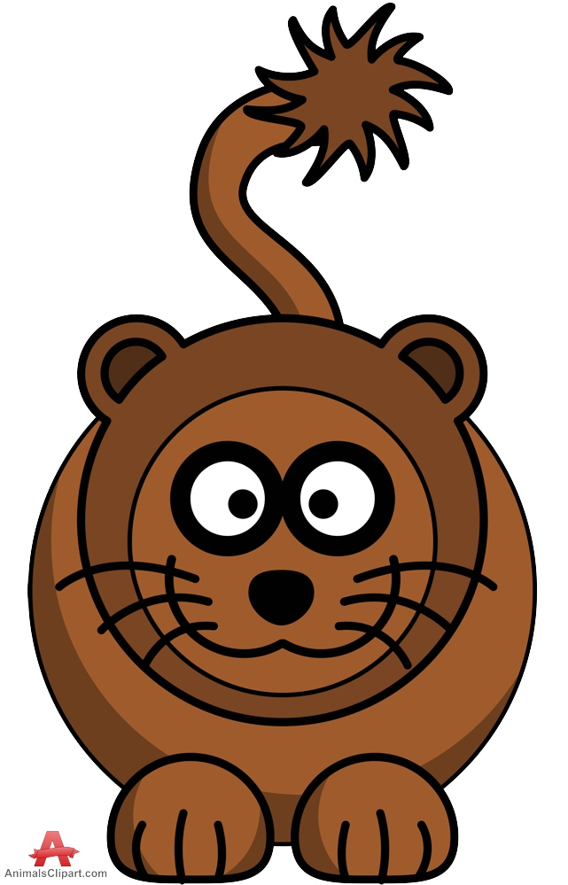 Cartoon lion brown encode clipart to base jpg