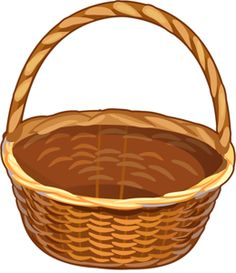 Bucket clipart brown basket cute borders vectors animated black jpg