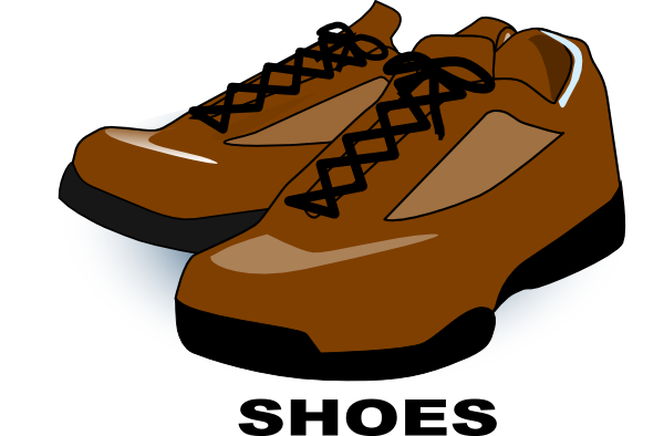 Brown shoes clipart jpg