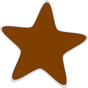 Brown clip art star hi clip art at vector png