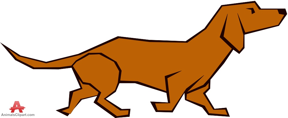 Dachshund dog brown clipart free design download jpg