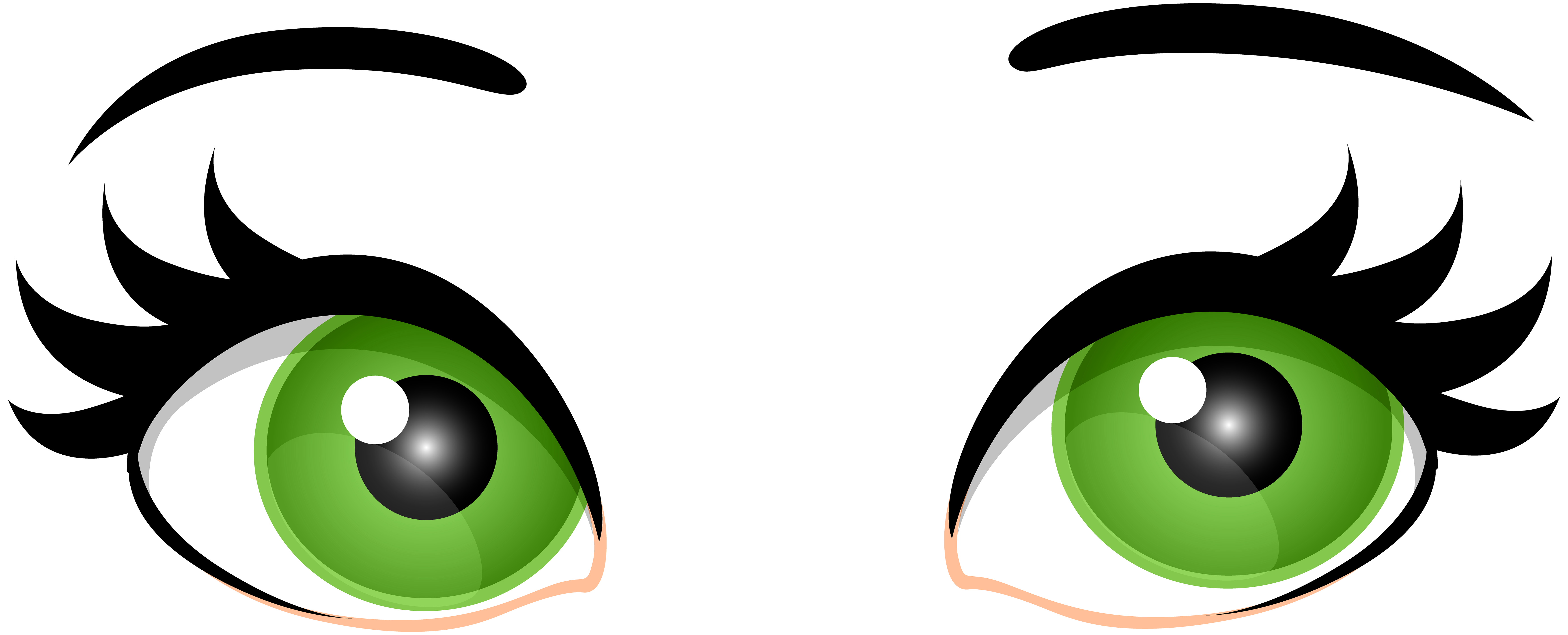 Green female eyes clip art web clipart png