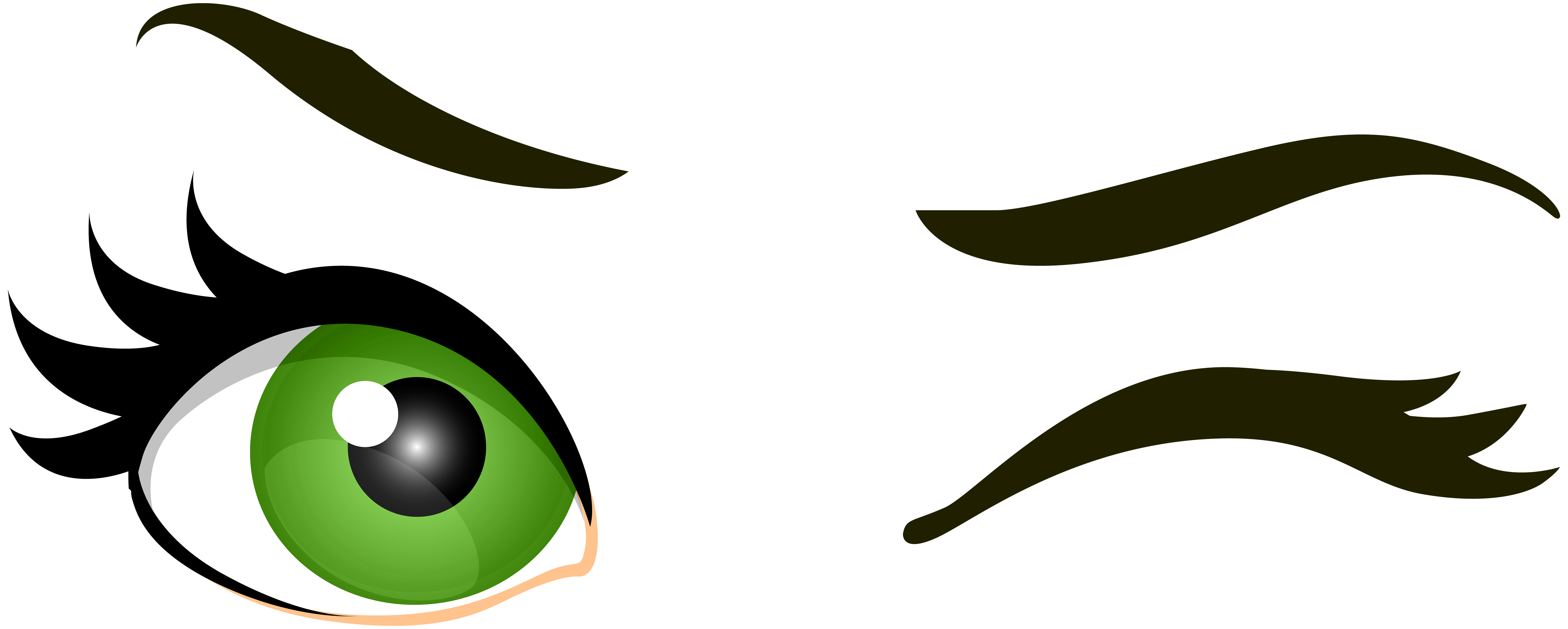 Green clipart green eye cute borders vectors animated black and png