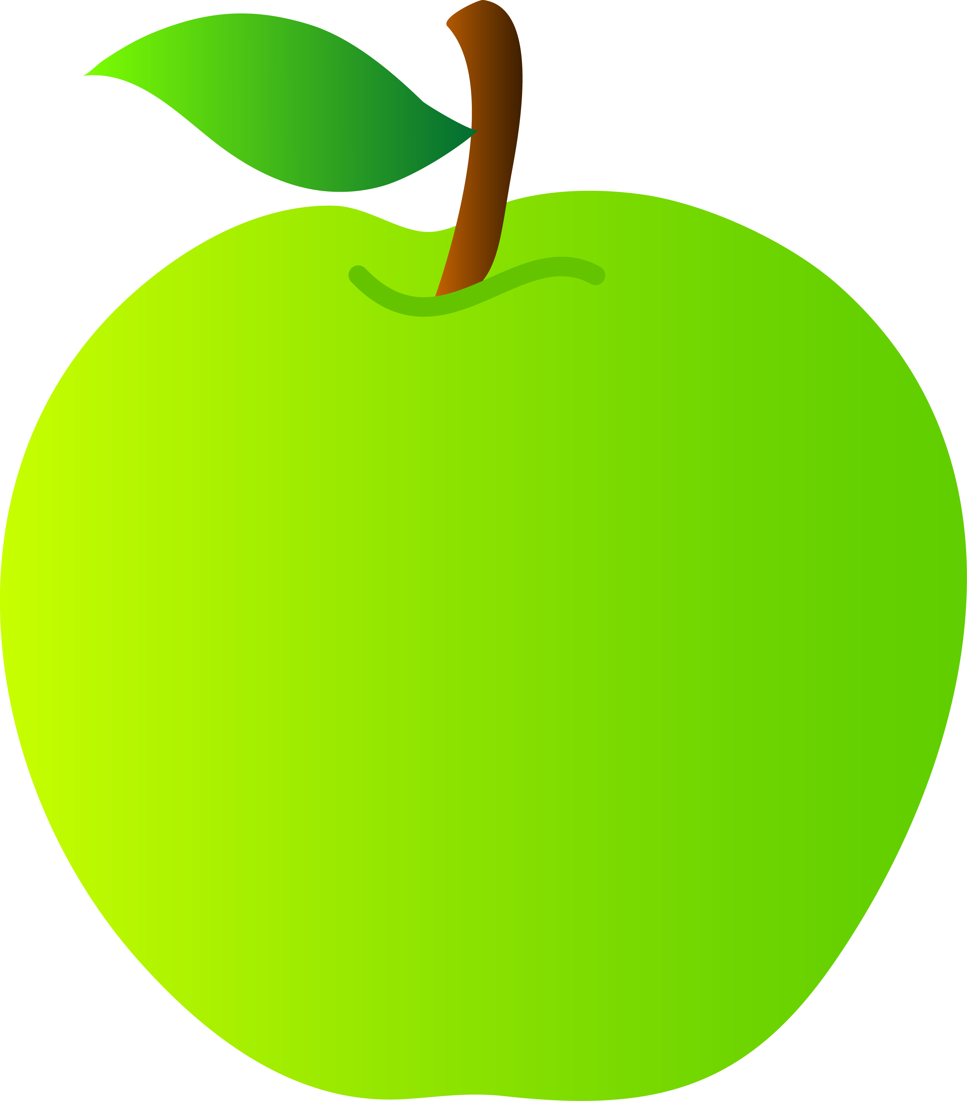 Green apple clipart png