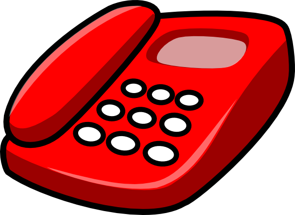 Red telephone clip art free vector 4vector png