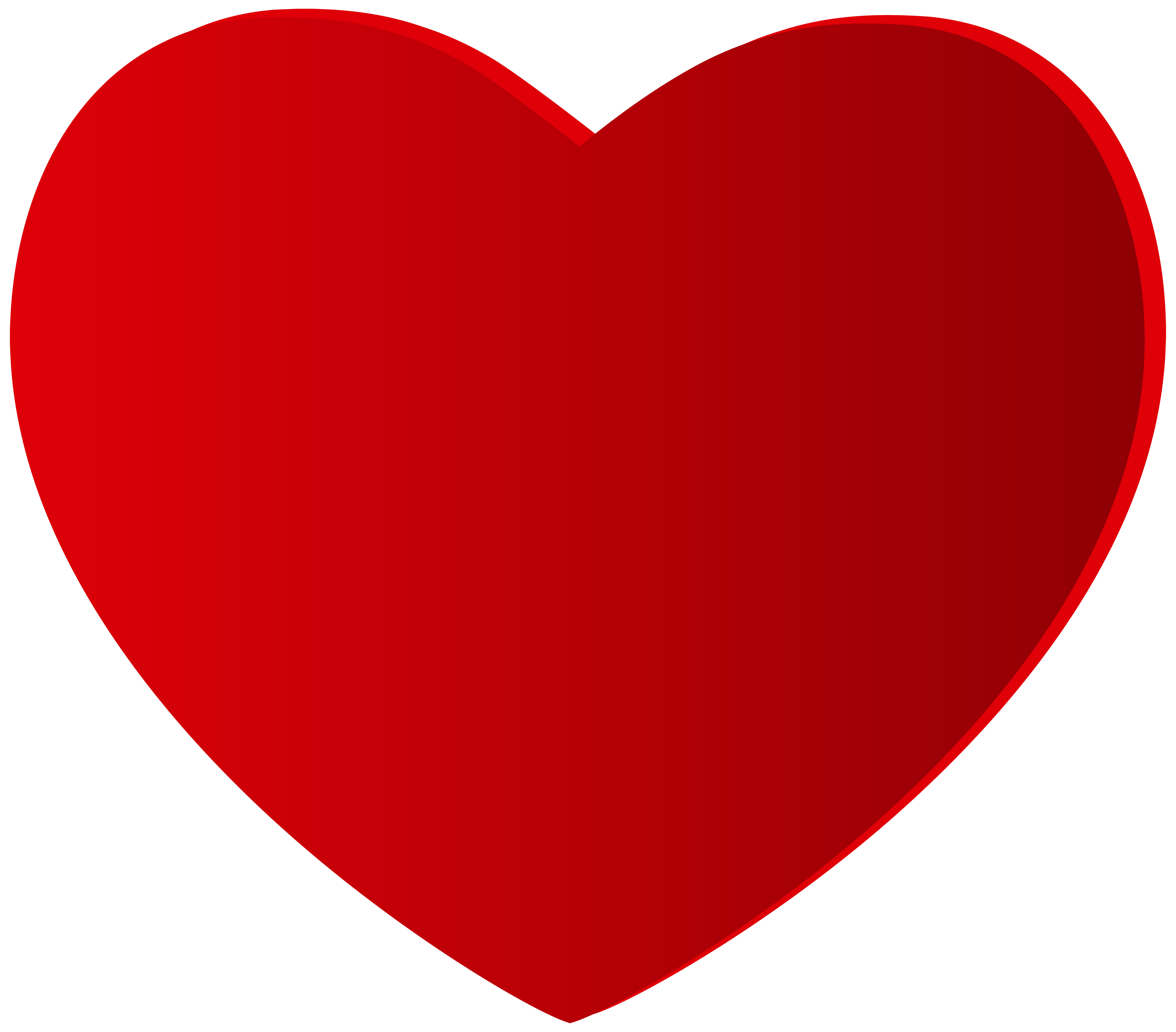 Large red heart clipart web png