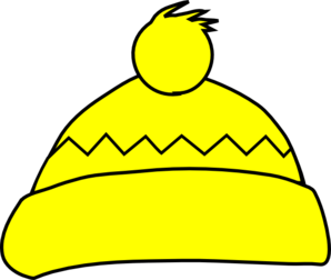 Yellow winter hat clip art at vector clip art png