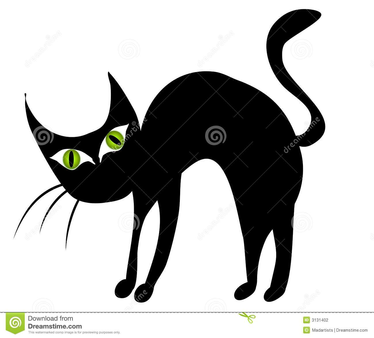 Isolated black cat clip art 2 illustration megapixl jpg
