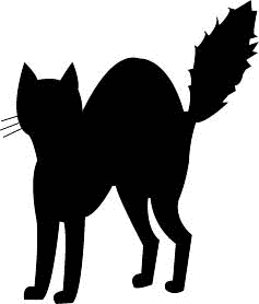 Scared black cat clipart jpg