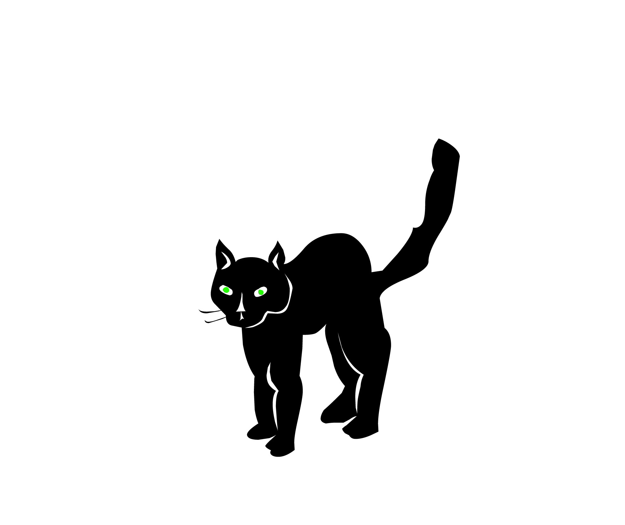 black cat Cat clip art black and white free clipart images jpeg 2