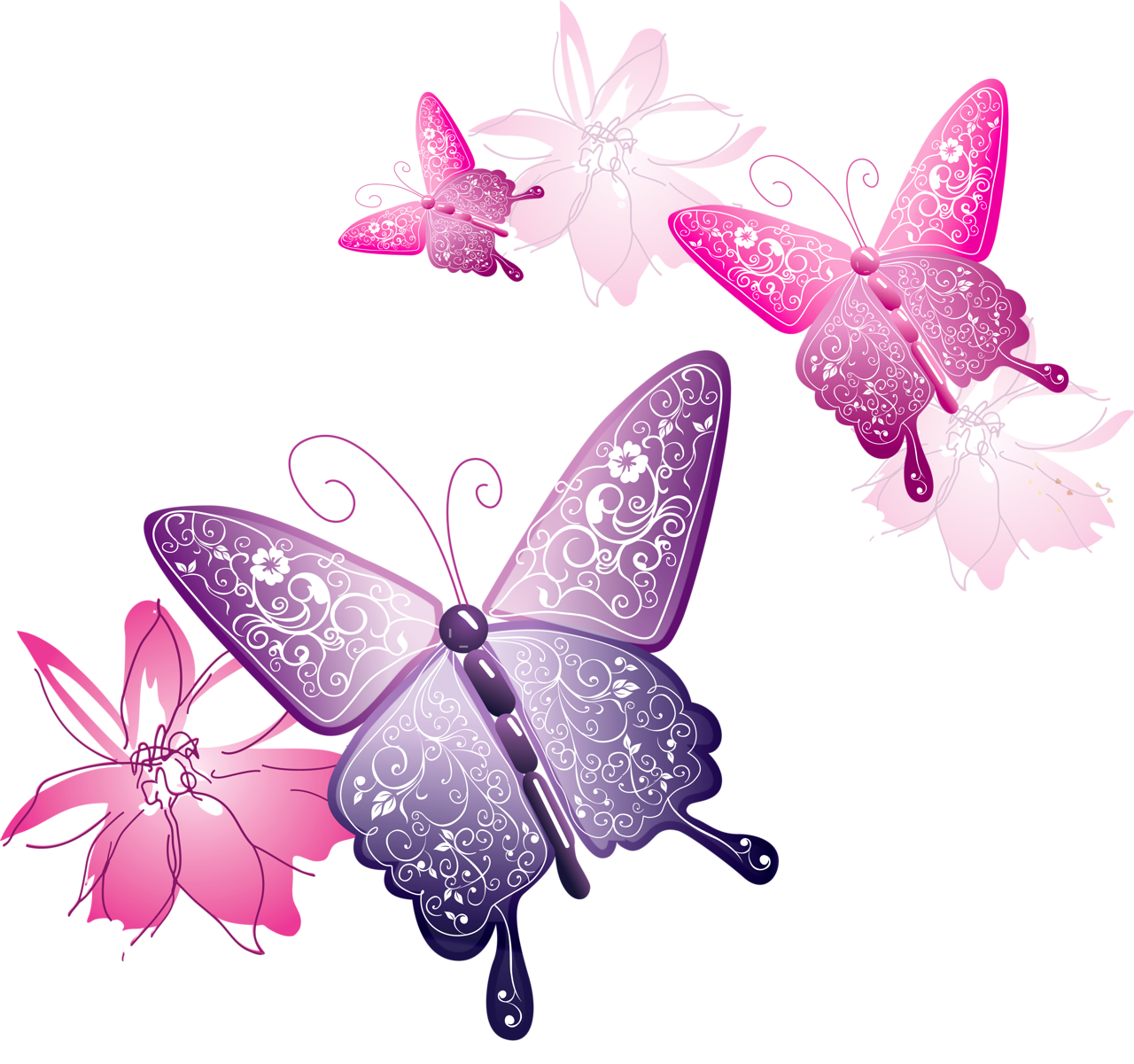 butterfly transparent Plumeria vector butterfly huge freebie download for powerpoint png