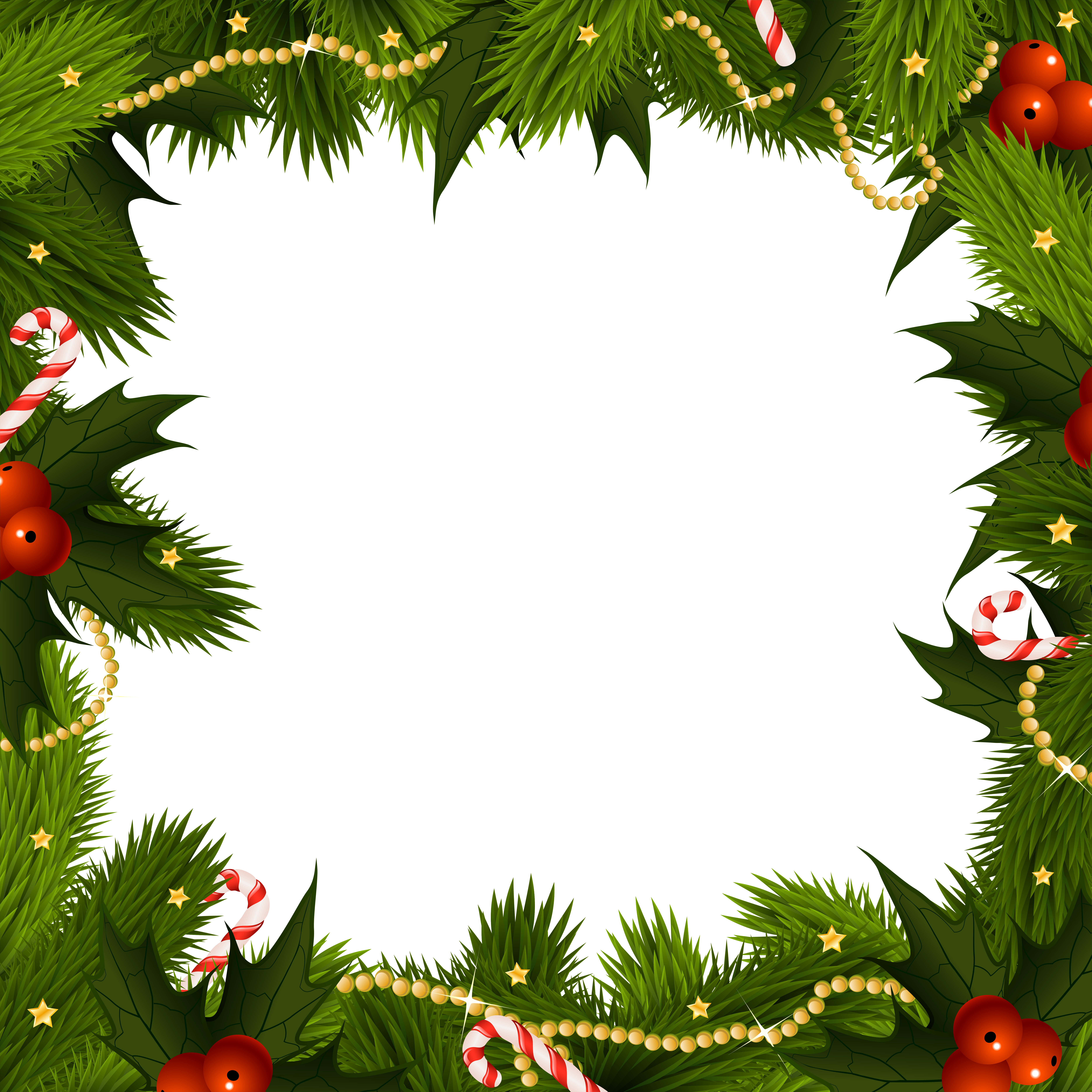 Transparent christmas border frame gallery yopriceville png 2