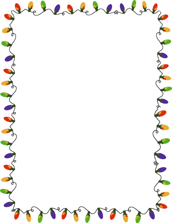 Christmas border transparent free rr collections png