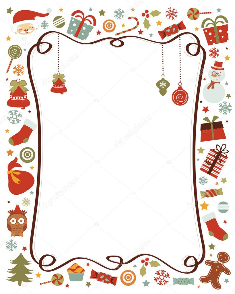 Christmas border stock vectors free jpg
