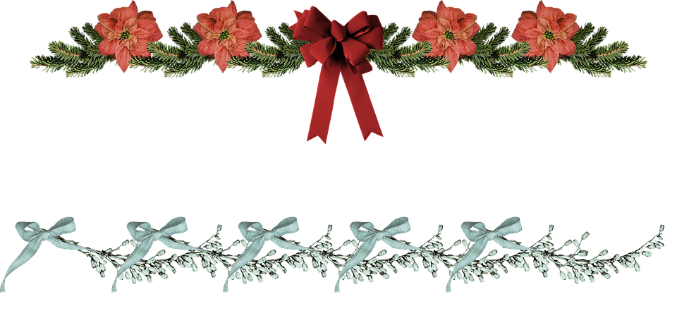 Christmas border poinsettia free image on pixabay png