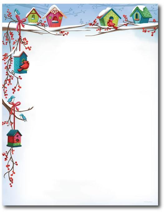 Christmas border stationery holiday letterhead paper jpg
