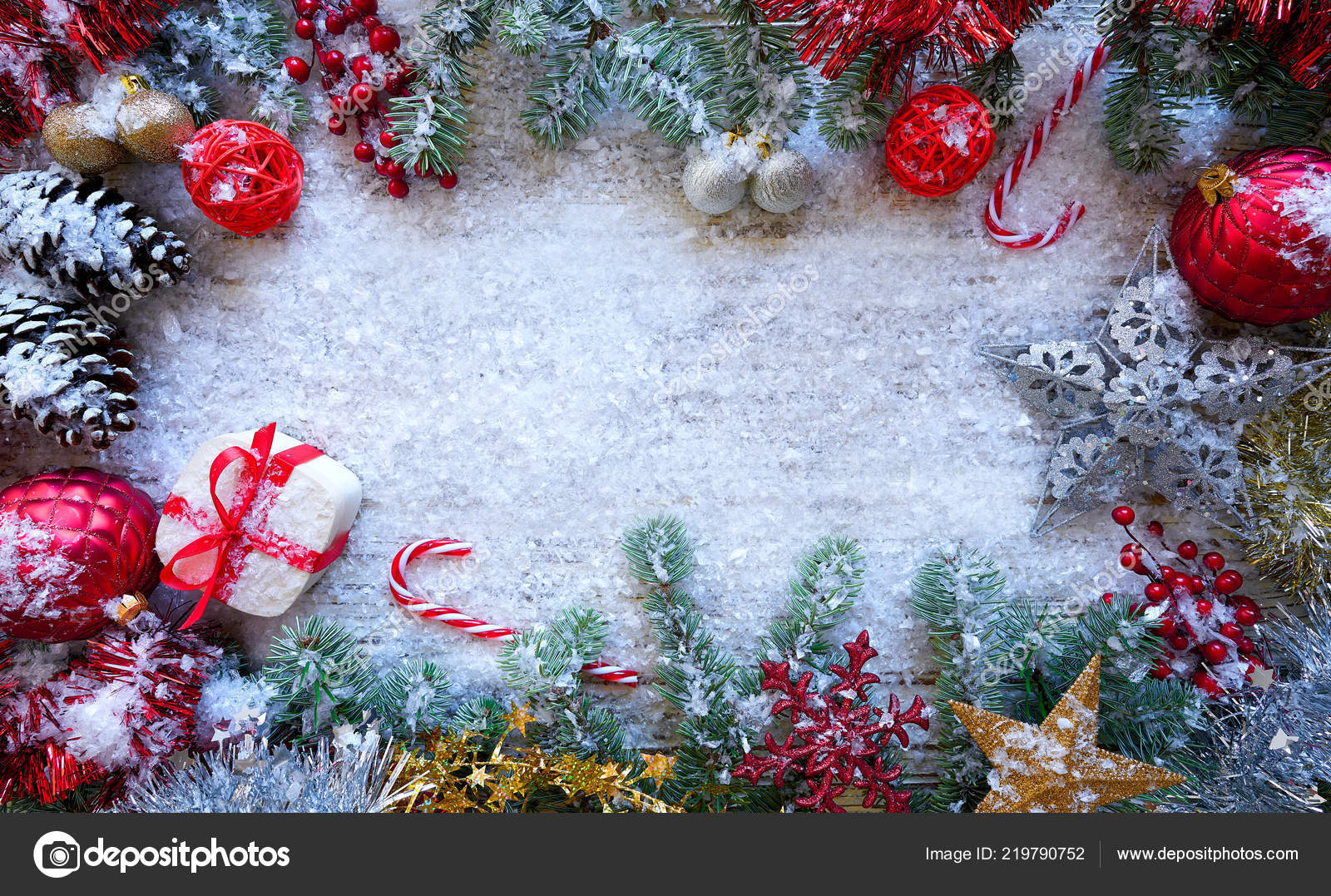 Christmas border frame white snow background tono jpg