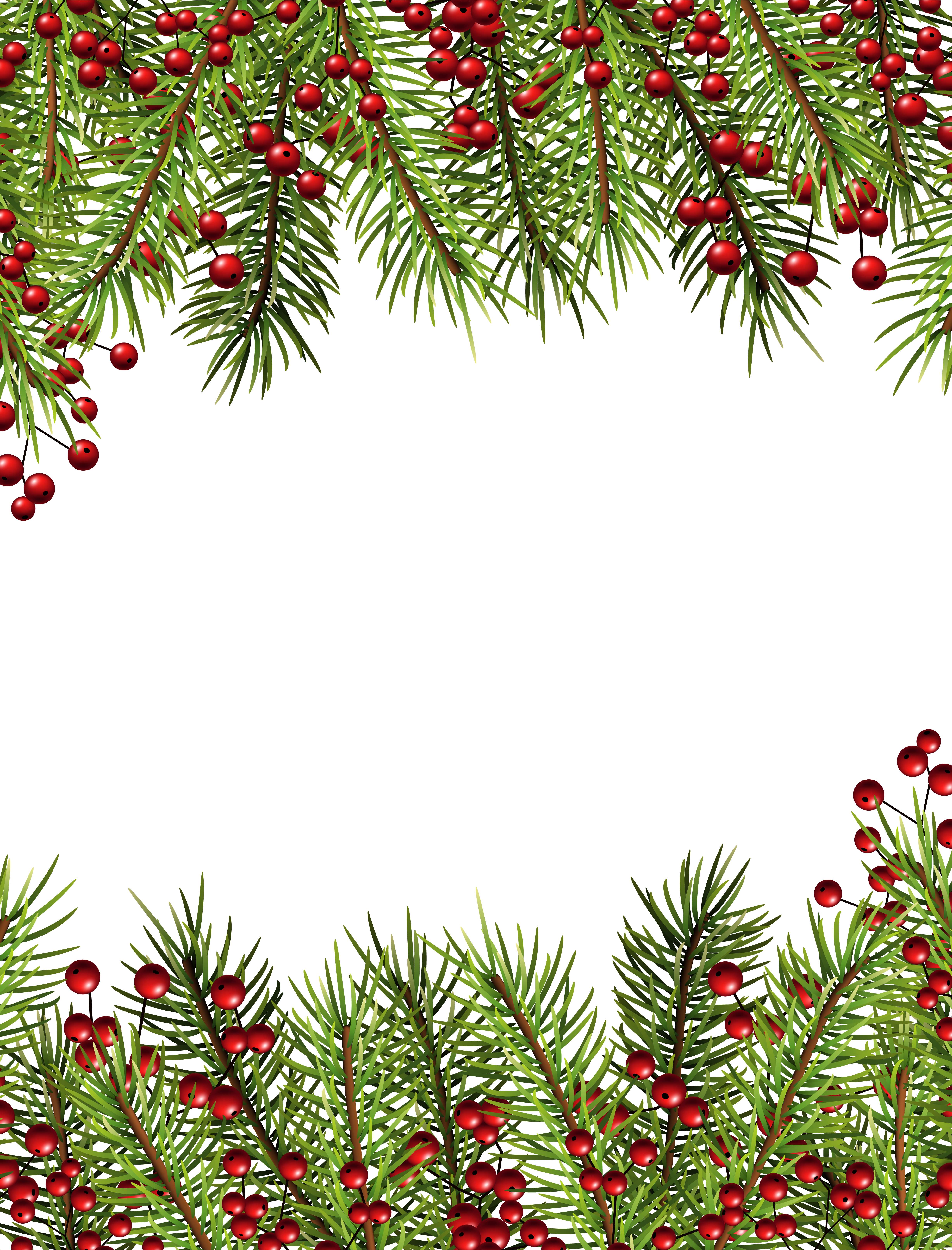 christmas border Christmas holly transparent border frame gallery yopriceville png