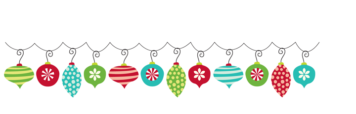 Christmas ornaments clipart word free on png